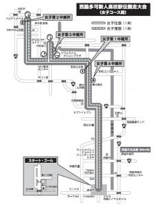 西脇多可新人高校駅伝女子map