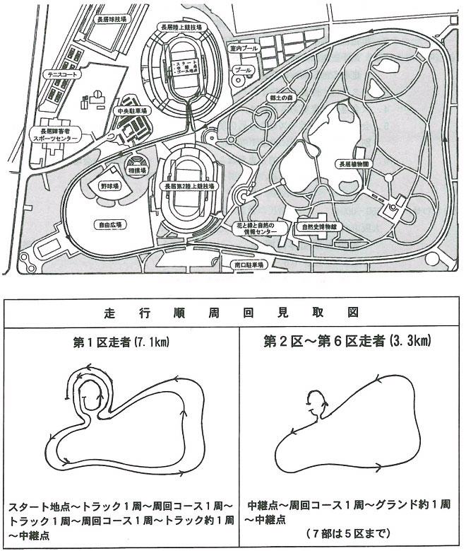大阪実業団対抗駅伝マップ